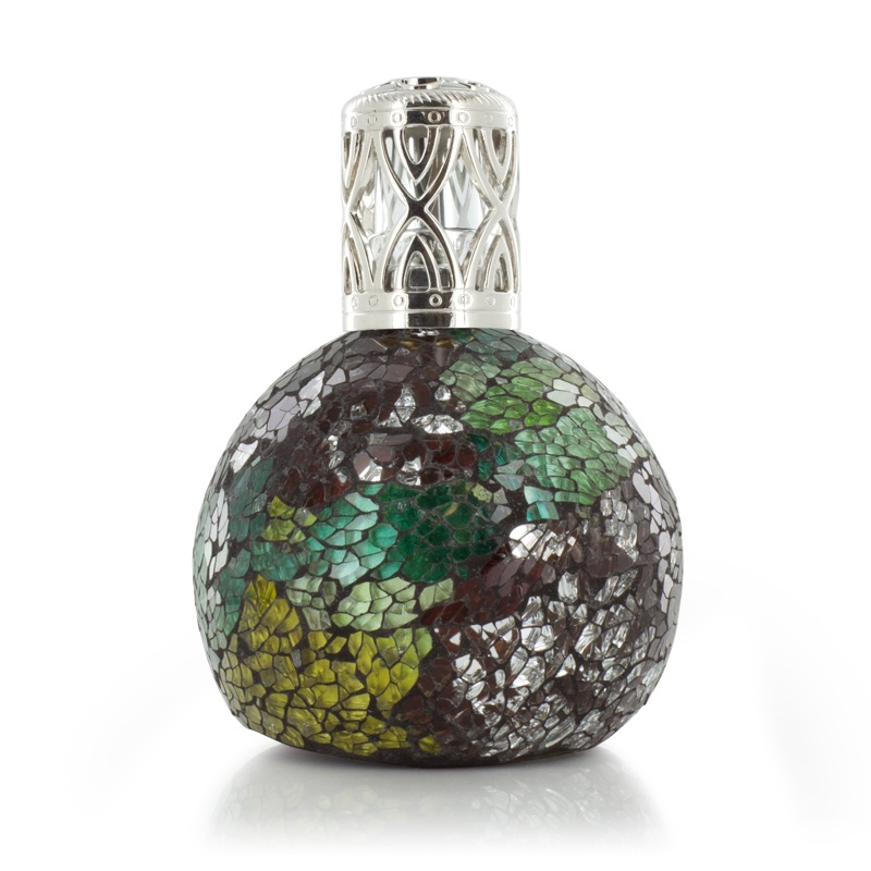 Mint Choc Chip Green, Silver & Yellow Fragrance Lamp